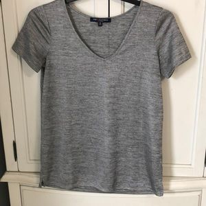 Silver short sleeves size small top